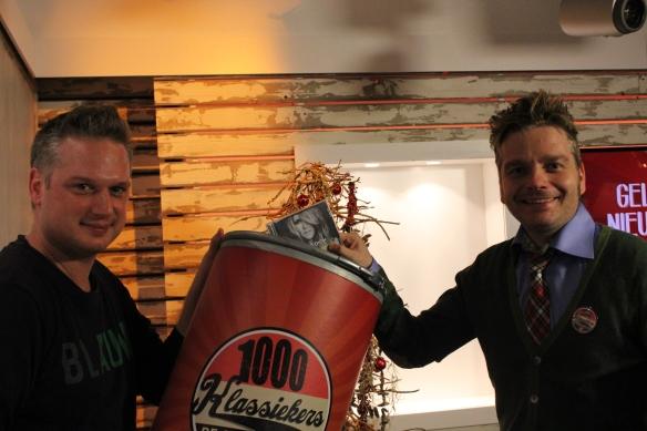 Udo, samen met Radio 2-presentator Benjamien.
