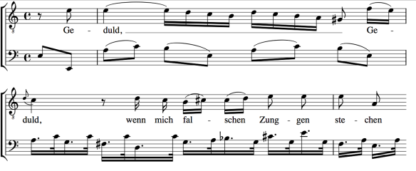 Geduld partituur