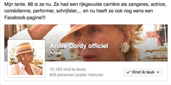 Udo prees de Facebook-pagina van z'n 88-jarige tante aan