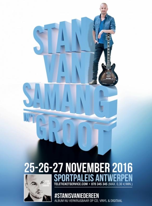 Stan Van Samang verwelkomt Sarah Bettens en Udo in Sportpaleis
